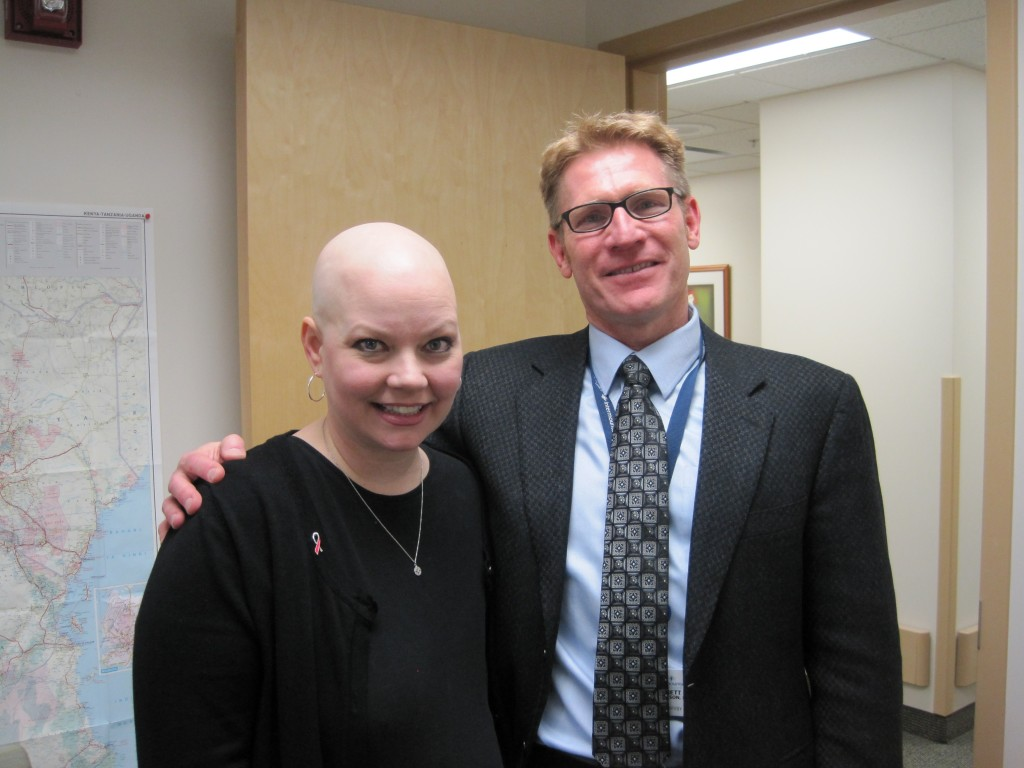 Carol Pastor (patient served by the Medicaid Breast and Cervical Cancer Treatment and Prevention Program) with Dr. Brent Parkinson (radiologist and Director of Intermountain Medical Center's Breast Care program).